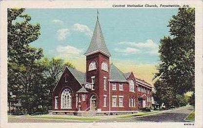 Arkansas Fayetteville Central Methodist Church Curteich