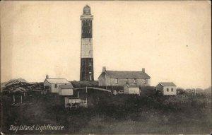 Dog Island New Zealand Lighthouse & Buildings c1910 Postcard