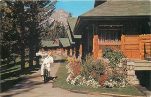Room service at Jasper Park Lodge comes via cycle and scooter