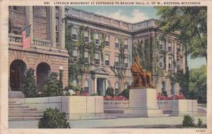 Wisconsin Madison Lincoln Monument At Entrance To Bascom Hall University Of W...