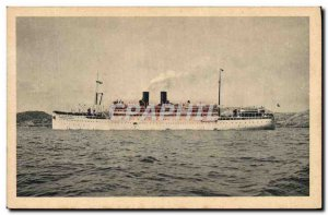 Old Postcard Boat Navigation Company Paquet Marseille Mixed Marshal Lyautey
