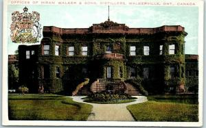 Walkerville, Ontario Canada Postcard Offices HIRAM WALKER & SONS DISTILLERS
