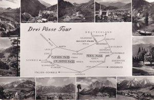 Drei Passe Tour KTV Chizzali Austria Map Old Real Photo Postcard