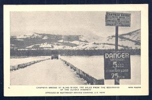 Campman Bridge Slims River Alaska Highway unused C1930s