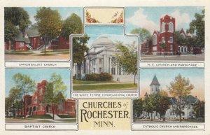 Churches of ROCHESTER, MN, 1910s; Universalist, Baptist, White Temple Congreg...
