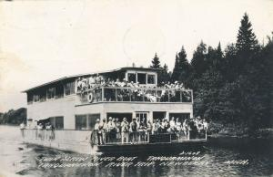 RPPC Twin Screw River Boat - Tahquamenon - Newberry MI, Michigan - pm 1950