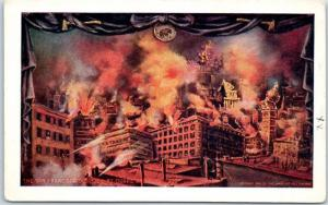 1906 San Francisco EARTHQUAKE Postcard Disaster by Quake and Fire UNUSED