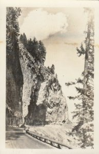 RP: HAYNES 35388 ; Overhanging Cliff , Yellowstone Park , 1954