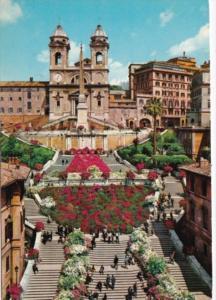 Italy Roma Rome Spain's Square and the Trinita del Monti 1967