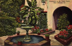 Louisiana New Orleans Courtyard In The Vieux Carre 1949 Curteich