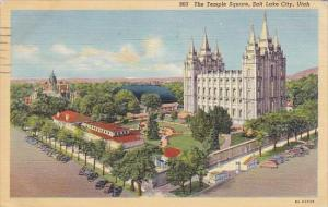 Utah Salt Lake City The Temploe Square 1944
