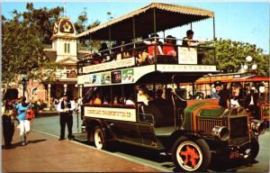 Disneyland Omnibus Anaheim California CA Doubledecker Unused Postcard D34