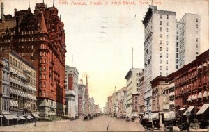 New York City Fifth Svenue North Of 33rd Street 1918