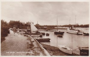 RP; HAYLING ISLAND, England, UK, 1920-40s; The Quay, Boats