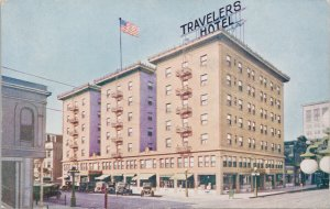 Travelers Hotel Sacramento CA California Sunset Press Postcard G12
