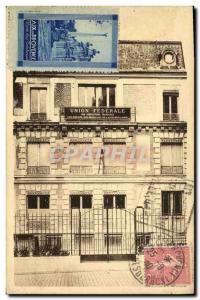 Postcard Old House of Insurance & # 39Union Federal Street Brissac Paris 4th ...