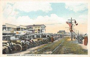 LPS01 Hampton Beach New Hampshire Ocean Avenue Vintage Postcard