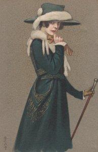 Art Deco ; COLOMBO , Female Elegant Fashion Portrait #5 , 1910-20s