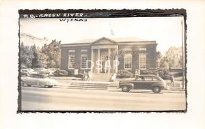 Wyoming Wy Real Photo RPPC Postcard c1950 GREEN RIVER Post Office Building