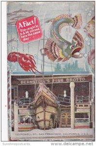 Bernstein's Fish Grotto Restaurant Powell Street San Fraancisco Californ...