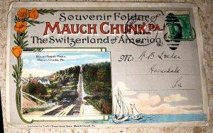 Souvenir Folder Mauch Chuck, Pa  The Switzerland of America