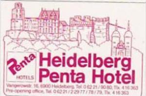 GERMANY HEIDELBERG PENTA HOTEL VINTAGE LUGGAGE LABEL
