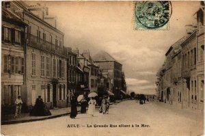 CPA AULT - La Grande Rue allant a la Mer (515102)