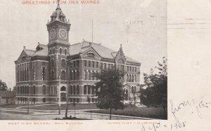 Iowa Des Moines West High School 1905