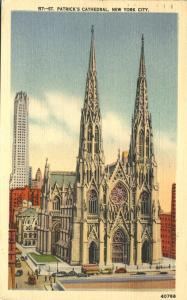 St Patrick's Cathedral in New York City - pm 1952 - Linen