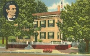 Abraham Lincoln's Home, Springfield, Illinois unused line...