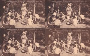 0148 Grabbag Auction 4 Scouting Indian Chief Postcards Starting At .99
