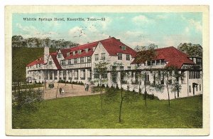 Knoxville Tennessee Postcard Whittle Springs Hotel Autos People #75911