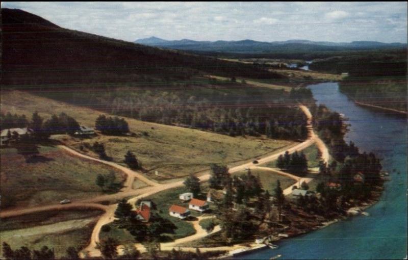 Moosehead Lake Rockwood ME Bemis Camps Aerial View Old Postcard