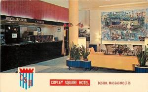 Boston Massachusetts~Copley Square Hotel Check-In Desk 1965