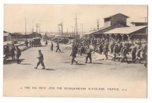 St Nazaire France WWI Postcard US Army Camp Mess Headquarter