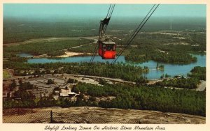 Stone Mountain, GA, View from Top, Cable Car, 1968 Chrome Vintage Postcard h3519
