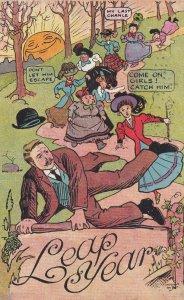 LEAP YEAR; PU-1908; Women Chasing A Man, My Last Chance, Don't Let Him Esc...