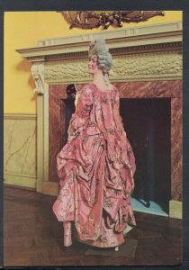 Fashion Postcard - Costume - 1770's Brocade Kirtle Draped in Polonaise T8358