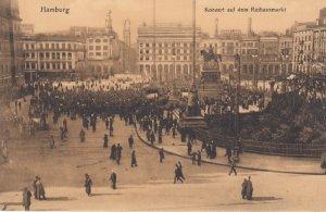 HAMBURG , Germany , 1900-10s ; Konzert auf dem Rathausmarkt