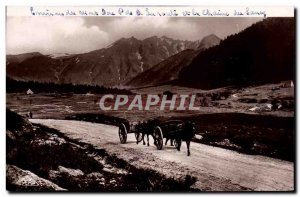 Postcard Old Env Mont Dore Road and Chain of Sancy
