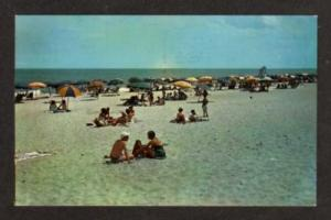 MD View of Beach OCEAN CITY MARYLAND Postcard PC