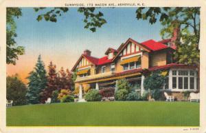 Postcard Sunnyside 173 Macon Avenue Asheville North Carolina