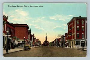 Rochester MN-Minnesota, Drugstore, Broadway Looking South Vintage c1914 Postcard