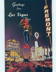 Pre-1980 CASINO SIGNS ALONG THE STREET Las Vegas Nevada NV G4992