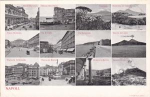 NAPOLI, Campania, Italy, 1900-1910´s; 12-Views, Piazza Dai Mariri, Vesuvio I...