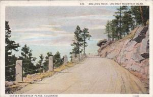 Colorado Denver Mountain Parks Bulldog Rock Lookout Mountain Road Curteich