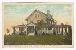Home, Benj. D. Riegel, Pres. Ware Shoals Mfg Co.,, Ware Shoals, South Carolin...