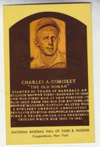 P72 JL postcard charles a comiskey baseball hall of fame