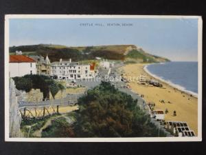 Devon SEATON Castle Hill Old Postcard by E.T.W. Dennis S.2314