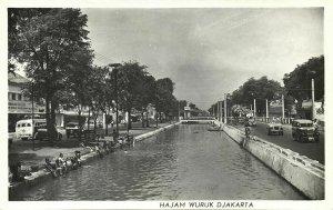 indonesia, JAVA JAKARTA, Hajam Wuruk, Cars (1950s) RPPC Postcard